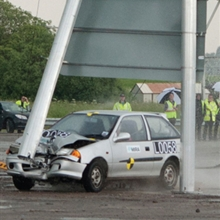 Optimast Crash Test