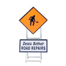 Temporary Road Signs With SUP