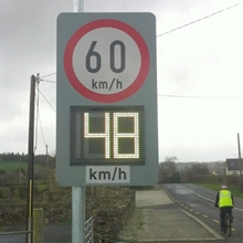 Driver Feedback Sign 48 km/h Light Green
